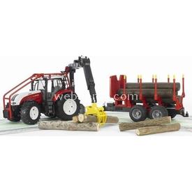 Bruder Steyr Cvt 6230 Forestry Römorklu Traktör Iş Mak Erkek Çocuk Oyuncakları