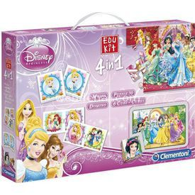 Clementoni Edukit Eğitim Seti 4'ü 1 Arada Disney Princess Puzzle