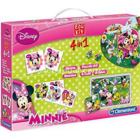 Clementoni Edukit Eğitim Seti 4'ü 1 Arada Minnie Mouse Puzzle