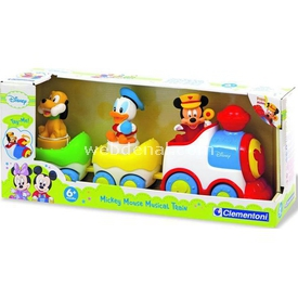 Clementoni Disney Baby Mickey Mouse Müzikli Tren Oyun Seti Arabalar