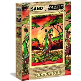 Clementoni 500 Parça Kum Efektli  Family Puzzle