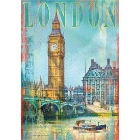 Clementoni 500 Parça Ahşap Efektli  London Puzzle