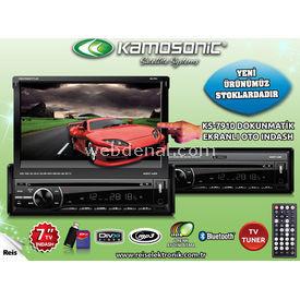 Kamosonic 7'' OTO INDASH TV-BLUETOOTH-USB-SD-DIVX KS-7910 Araç İçi Kamera