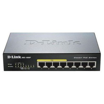 D-link DGS-1008P 8-port Gigabit PoE Masaüstü Switch