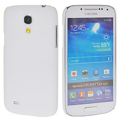 Microsonic Rubber Kılıf Samsung Galaxy S4 Mini I9190 Beyaz Cep Telefonu Kılıfı