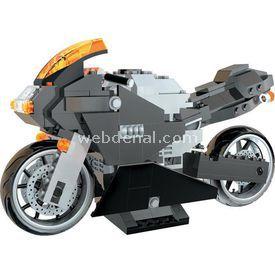 Mega Bloks Carbon Seri Spor Motosiklet Lego Oyuncakları