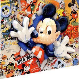 Mega Puzzles 200 Parça 3d  Breakthrough Mickey Puzzle