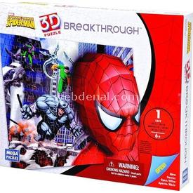 Mega Puzzles 100 Parça 3d  B. Spiderman Battle Puzzle