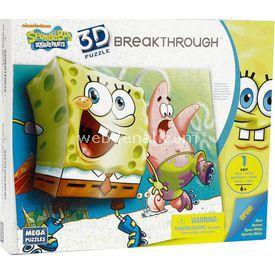 Mega Puzzles Mega Puzzle 110 Parça 3 Boyutlu Puzzle Breakthrough Sponge Bob 2 Lego Oyuncakları