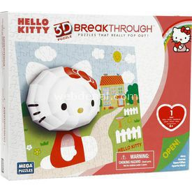 Mega Puzzles Mega Puzzle 140 Parça 3 Boyutlu Puzzle Breakthrough Hello Kitty Lego Oyuncakları