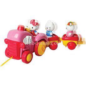 Necotoys Hello Kitty Çekmeli Traktör Oyun Seti Arabalar