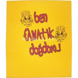 Özge Mini Pop Özge Minipop 3812 Penye  Sarı-kırmızı Bebek Battaniyesi