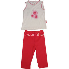 Bebiccino 2960 Bebek Taytlı Takımı Fuşya 0-3 Ay (56-62 Cm) Kız Bebek Takım