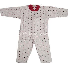 Sebi Bebe 51049 Pijama Takımı Gül Baskılı Fuşya 3-6 Ay (62-68 Cm) Kız Bebek Pijaması