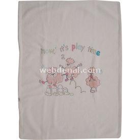 Minidamla MİNİ DAMLA 1223 POLAR BEBEK BATTANİYESİ Beyaz-PEMBE Bebek Battaniyesi