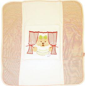 Sebi Bebe 52023  Perdeli Ayıcık Kırmızı Bebek Battaniyesi