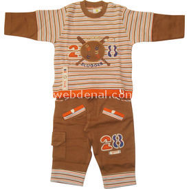 Tory Baby 4067 2li Bebek Takımı Kahverengi 0-3 Ay (56-62 Cm) Erkek Bebek Takım