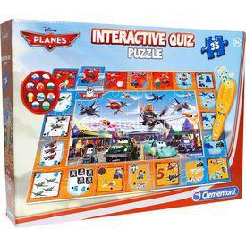 Clementoni Interactive Quiz  Yarışması Disney Planes 35 Parça Puzzle