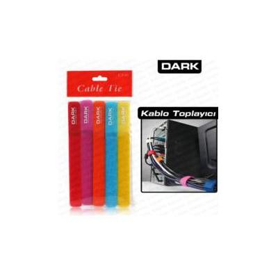 Dark Dk-cb-t5 5 Renkli Kablo Toplayıcı - Cırt Bantlı Kasa İçi Kablolar