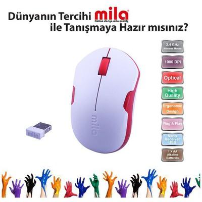 Classone ML370 Kablosuz Mouse - Beyaz Kırmızı