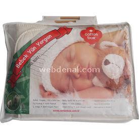 cotton-box-4060-bebek-yun-yorgan-krem