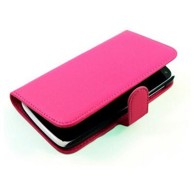 Microsonic Cüzdanlı Deri Kılıf - General Mobile Discovery - Pembe Cep Telefonu Kılıfı