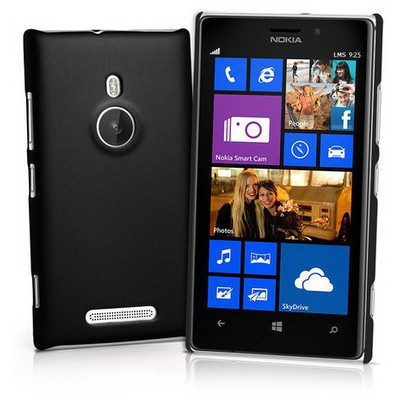 Microsonic Rubber Kılıf Nokia Lumia 925 Siyah Cep Telefonu Kılıfı