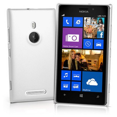 Microsonic Rubber Kılıf Nokia Lumia 925 Beyaz Cep Telefonu Kılıfı