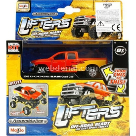 Maisto Lifters 2002 Dodge Ram Metal Model Kit 11 Cm Puzzle
