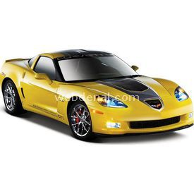 Maisto Chevrolet Corvette Gt1 2009 1:24 Model Araba S/e Sarı Arabalar