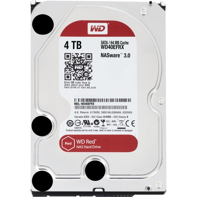 "WD 4tb Red Nas 3.5"" Intellipower 64mb Wd40efrx"