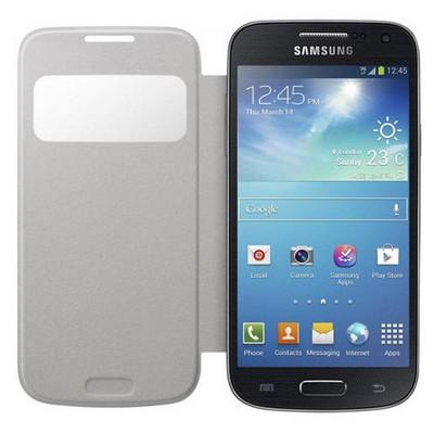 Microsonic View Cover Delux Kapaklı Kılıf Samsung Galaxy S4 Mini I9190 Beyaz Cep Telefonu Kılıfı