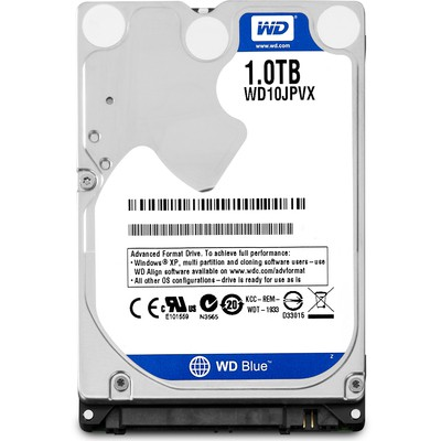 "WD 1 TB BLUE 2.5"" 5400RPM 8MB SATA3  Notebook HDD WD10JPVX"
