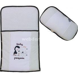 Bebepan 1428 Penguin Bebek Alt Açma Beyaz Alt Açma Minderi
