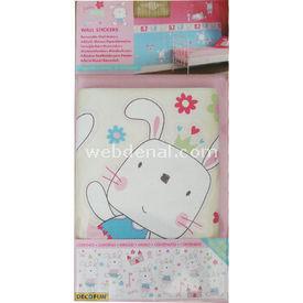 Decofun Funny Bunny Wall Stickers Okul Etiketleri