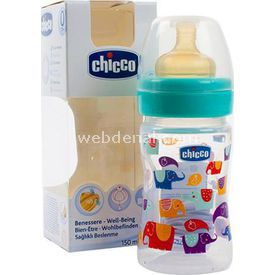 Chicco Normal Akış Kaucuk Biberon 150 Ml Ppb Mavi Bebek Besleme