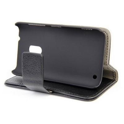 Microsonic Cüzdanlı Standlı Deri Kılıf - Nokia Lumia 620 Siyah Cep Telefonu Kılıfı