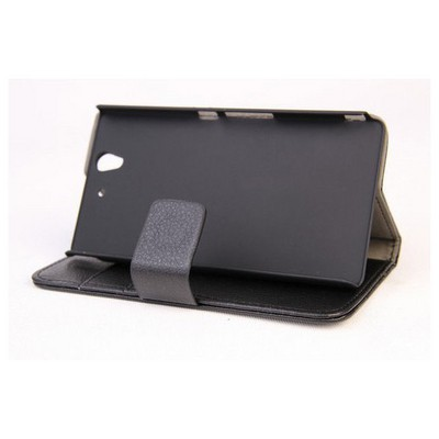 Microsonic Cüzdanlı Standlı Deri Kılıf - Sony Xperia Z Siyah