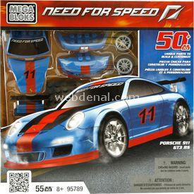 Mega Bloks Need For Speed Porsche 911 Gt3 Rs Oyun Seti Mavi Lego Oyuncakları