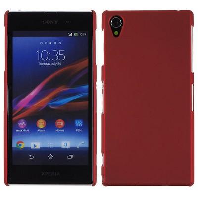 Microsonic Rubber Kılıf Sony Xperia Z1 L39h Kırmızı Cep Telefonu Kılıfı