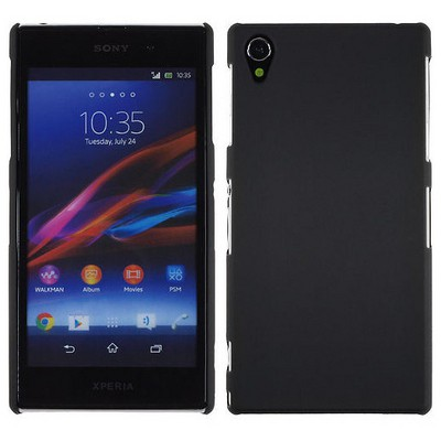 Microsonic Rubber Kılıf Sony Xperia Z1 L39h Siyah Cep Telefonu Kılıfı