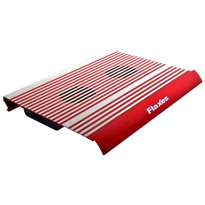 Flaxes FN-3333K Alüminyum Çift Fanlı Sessiz 4 usb Kırmızı Notebook Soğutucu