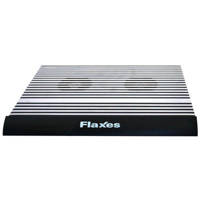 Flaxes FN-3333S FLAXES FN-3333S ALÜMİNYUM ÇİFT FANLI 4 USB ÇIKIŞ SİYAH NOTEBOOK SOĞUTUCU Notebook Soğutucu