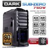 Dark Sub-Zero 750w Mid Tower Kasa (DKCHSUBZERO750)
