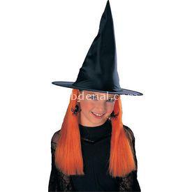 Rubies Cadı Şapkası Ve Turuncu Saçı Kostüm & Aksesuar