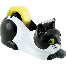 Necotoys Kedi Figürlü Bant Makinesi Ofis / Kırtasiye Ürünü