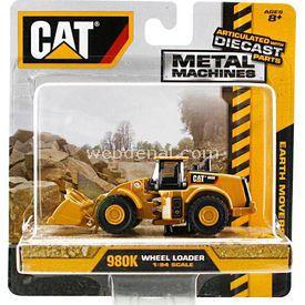 CAT Metal Koleksiyon Araçları Kepçe Iş Makinası Erkek Çocuk Oyuncakları