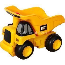 CAT Bas Gitsin Sesli Ve Işıklı Dump Truck Iş Makinası Erkek Çocuk Oyuncakları