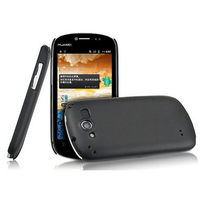 Microsonic Rubber Kılıf Nokia Huawei Vision U8850 Siyah Cep Telefonu Kılıfı