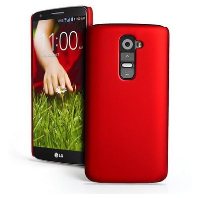 Microsonic Rubber Kılıf Lg Optimus G2 Kırmızı Cep Telefonu Kılıfı